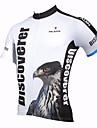 ILPALADINO Homme Manches Courtes Maillot de Cyclisme Eagle Cyclisme Maillot Hauts / Top, Sechage rapide Resistant aux ultraviolets Respirable, Printemps Ete, Polyester 100 % Polyester Terylene
