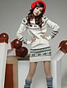 Yedda iarnă coreeană cerb casual, model tricot pulover 506801white