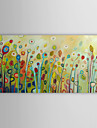 HANDMÅLAD Blommig/Botanisk En panel Kanvas Hang målad oljemålning For Hem-dekoration