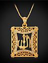 Coliere imitație de diamant Coliere cu Pandativ / Coliere Vintage Bijuterii Square Shape Cristal / Ștras / Placat Auriu Auriu Cadou