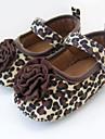 Fete Pantofi Flați Primii Pași Pantofi Moi Țesătură Primăvară Vară Toamnă Nuntă Rochie Party & Seară Flori Bandă Magică Toc Plat Leopard