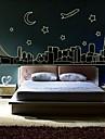 Stickers muraux stickers muraux ville architecture autocollant décoratif lumineux