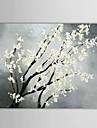 iarts®hand pictură în ulei pictate florale pictura alb flori înflorit panza cu cadru intins