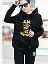 yisiber korean îngroșare sporturi de cauzalitate femei, plus catifea costum pulovăr mare curte costum din trei piese