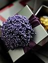 Cubic Fier (placat cu nichel) Favor Holder Cu Flori Panglici Cutii de Cadouri
