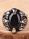 Bărbați Sapphire sintetic / Piatră Preţioasă Negru natural Inel de declarație / Inel - Personalizat, Vintage, Casual Pentru