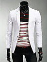 Blazer Normal Homme, Couleur Pleine Quotidien simple Decontracte Printemps Revers Crante Melange de Coton