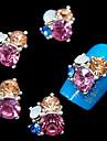 10st glitter 3d strass blomma diy legering tillbehör nagel konst dekoration