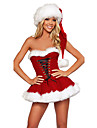 het söt röd päls klänning jul kostym (2 st)