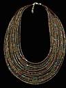 Stilul Boemia de sticlă țese lanț margele mic multiplu strand colier moda pentru aniversare, petrecere