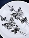 Cercei Picătură Multistratificat Placat Auriu Aliaj Animal Shape Fluture Auriu Negru Argintiu Bijuterii Pentru 2pcs