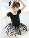 رقص الباليه الفساتين التدريب قطن كم قصير ارتفاع متوسط أميرة