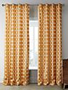 Tringle oeillets Onglet superieur Plis double Deux Panneaux Le traitement de fenetre Designer, Imprime Chambre a coucher Polyester