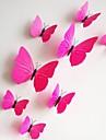 perete decalcomanii autocolante de perete, 12pcs / lot 3d pvc magnetic a crescut autocolante Casa de fluture autocolant autocolante de perete DIY.