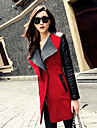Women\'s Chic & Modern Coat-Color Block,Modern Style