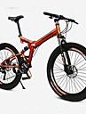 Hopfällbar Cykel Mountainbikes Cykelsport 21 Hastighet 26 tum/700CC SHINING SYS Dubbel skivbroms Luftfjädringsgaffel Vanlig