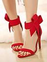 Dame Vară Platforme Pantof cu Berete Lână Țesătură Rochie Party & Seară Toc Stiletto Platformă Negru Verde Roșu Orange