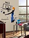 jucător de baschet de mediu perete din PVC autocolant