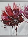 Pictat manual Floral/Botanic Un Panou Canava Hang-pictate pictură în ulei For Pagina de decorare