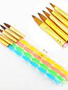 5pcs 5 farver størrelser 2-vejs professionel uv gel pensel sæt akryl nail art maleri tegne børste