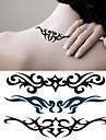 1 pc - Series de totem - Noir/Vert - Motif - 6*10.5cm (2.36*4.13in) - Tatouages Autocollants Homme/Femme/Adulte/Adolescent