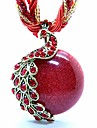 Pentru femei Toroane Coliere Pandative Coliere Medalioane Coliere Păun Teracotă Reșină Articole de ceramică Opal Aliaj Ajustabile Bohemia