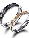 Bărbați Dame Inele Cuplu Iubire La modă Placat Auriu 18K de aur Bijuterii Pentru Nuntă Petrecere Zilnic Casual Sport