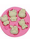 Hello Kitty silikonform kaka Utsmyckning silikonform för fondant godis hantverk smycken pmc harts lera