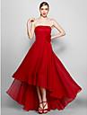 Linia -A Fără Bretele Asimetric Șifon Seară Formală Rochie cu Flori de TS Couture®