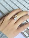 Pentru femei Band Ring - Perle, Ștras, Aliaj Inimă, Iubire Deschis Ajustabil Pentru Nuntă / Petrecere / Zilnic