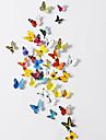 Decalcomanii de perete din PVC de perete autocolante de arta fluture 3d (38 buc) un set