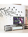 Djur Botanisk Väggklistermärken Väggstickers Flygplan Dekrativa Väggstickers, Vinyl Hem-dekoration vägg~~POS=TRUNC Vägg