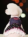 Hond Jurken Hondenkleding Polka dot Jeans Blauw Katoen Kostuum Voor Zomer Dames Cosplay