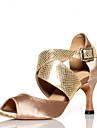 Latin - Pantofi de dans (Negru/Albastru/Auriu) - Non personalizabile - Pentru femei