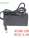 SENCART 1m / 1.5m Adaptateur d\'alimentation LED Connectible 100-240V