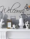 Ord & Citat Väggklistermärken Ord & Citat Väggdekaler Dekrativa Väggstickers, Vinyl Hem-dekoration vägg~~POS=TRUNC Vägg