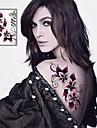 1 Non Toxique Tribal Bas du Dos Imperméable Séries de fleur Tatouages Autocollants