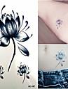 1 Tatueringsklistermärken Blomserier Ogiftig Ländrygg VattentätBarn Dam Herr Vuxen Tonåring Blixttatuering tillfälliga tatueringar