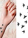 1 pcs Временные тату Временные татуировки Тату с животными Водонепроницаемый / Non Toxic Искусство тела / Нижняя часть спины / Waterproof