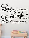 dragoste râde citat direct de perete Decal zooyoo1002 decorativ ADESIVO de Parede autocolant perete amovibil