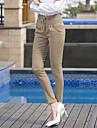Femei Femei Pantaloni Bodycon/Casual/Business/Plus Size Skinny Bumbac/Poliester/Elastic/Amestecuri Bumbac Strech