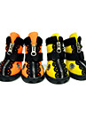Dog Boots / Shoes Dog Boots / Dog Shoes Lace Applique Edge Waterproof Solid Colored Dog Solid Color Orange Yellow For Pets / Winter