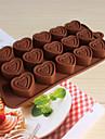 bakeware in forma de inima de silicon matrite de copt pentru ciocolata