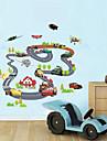 Desene Animate Transportare Perete Postituri Autocolante perete plane Autocolante de Perete Decorative Material Re-poziționabil Lavabil