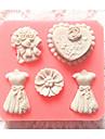 matrite bakeware rochie de silicon de copt pentru fondantă bomboane tort de ciocolată