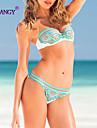 Femei Bikini Femei Cu Susținere Monocolor/Floral Push-up/Fără Întăritură/Sutiene cu Bureți Nailon/Spandex