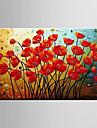 Pictat manual Floral/Botanic Panoramică orizontală, Modern pânză Hang-pictate pictură în ulei Pagina de decorare Un Panou