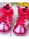 Κοριτσίστικα Παπούτσια Λουστρίν / PU Ανοιξη καλοκαίρι Ανατομικό / Πρώτα Βήματα Χωρίς Τακούνι Φιόγκος / Λουλούδι για Κόκκινο / Ροζ / Μωβ