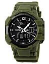 SKMEI Ανδρικά Αθλητικό Ρολόι Στρατιωτικό Ρολόι Ρολόι Καρπού Χαλαζίας καουτσούκ Μαύρο / Πράσινο 30 m Ανθεκτικό στο Νερό Συναγερμός Ημερολόγιο Αναλογικό-Ψηφιακό Κόκκινο Πράσινο Μπλε / Χρονογράφος / LCD