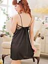 Feminin Capoate / Ultra Sexy / Costume Pijamale Dantelă / Mătase de Gheață Solid Negru